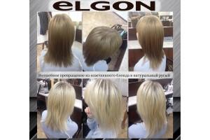 ОТЧЕТ №45 мастер-класса ELGON, Как из блондинки стать брюнеткой?